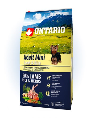 Ontario Adult Mini Lamb & Rice - 6,5