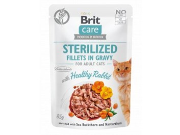 Brit Care Cat Sterilized, Fillets in Gravy with Healthy Rabbit 85 g
