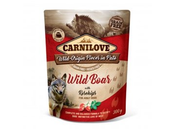 Carnilove Dog Pouch Paté Wild Boar with Rosehips 300g