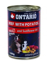 ONTARIO konzerva Beef, Potatos, Sunflower Oil 400 g