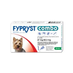 Fypryst COMBO spot on S 1x67mg/67,3mg pes 2-10kg