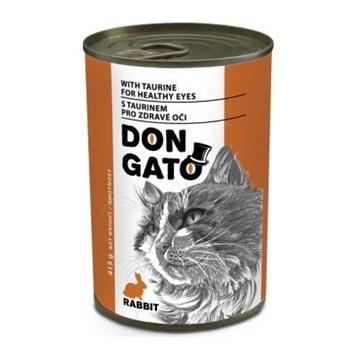 Dongato konzerva kočka králičí 415g