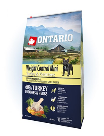 Ontario Mini Weight Control Turkey & Potatoes - 6,5kg