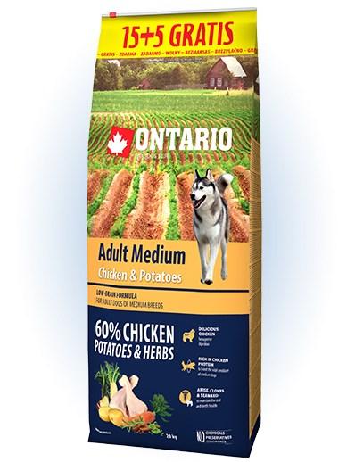 Ontario Adult Medium Chicken & Potatoes - 15 + 5kg