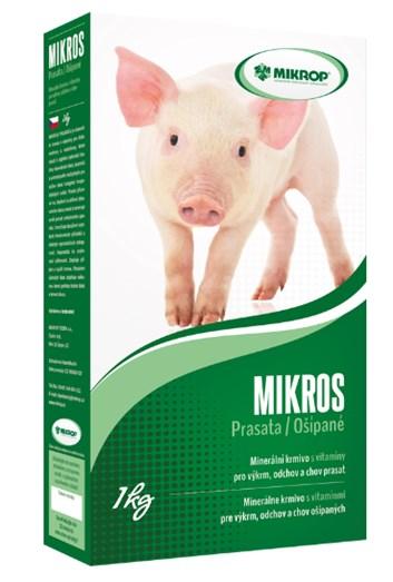 Mikrop MIKROS prase minerální krmivo s vitamíny 1 kg
