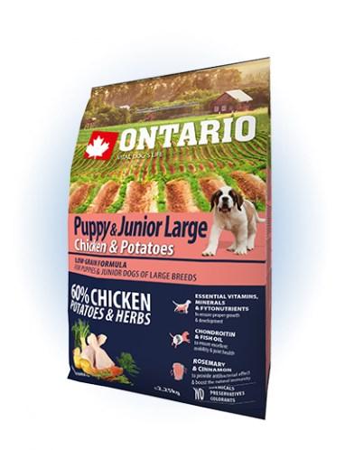 Ontario Puppy & Junior Large Chicken & Potatoes - 12KG - 2,25