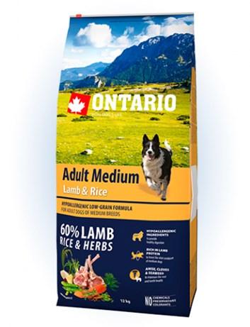 Ontario Adult Medium Lamb & Rice - 12kg