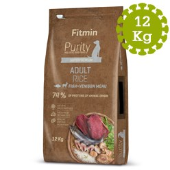FITMIN DOG PURITY RICE ADULT FISH&VENISO - 12