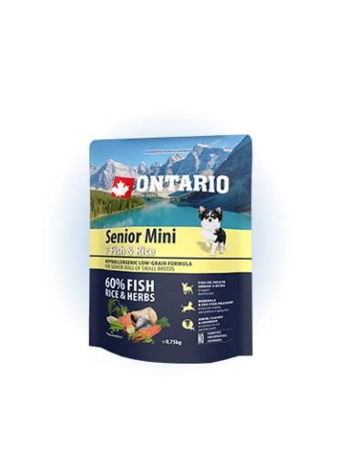 Ontario Senior Mini Fish & Rice - 0,75 kg