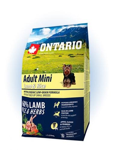 Ontario Adult Mini Lamb & Rice - 2,25