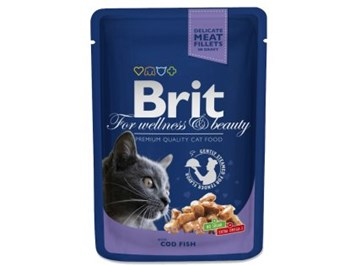 Brit Premium Cat Pouches s treskou 100g