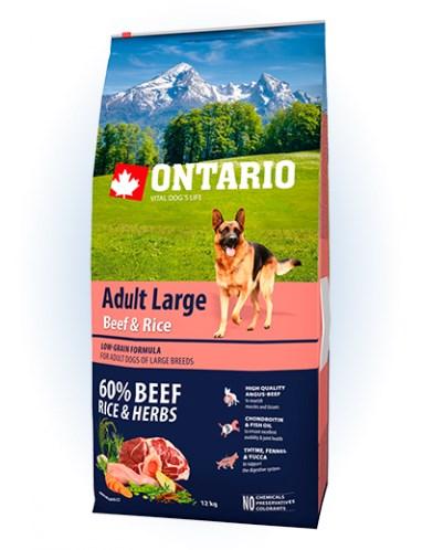 Ontario Adult Large Beef & Rice - 12KG