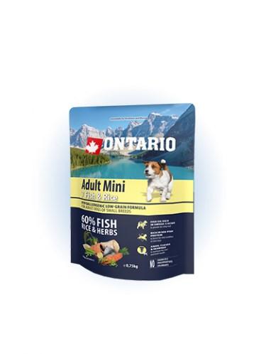 Ontario Adult Mini Fish & Rice - 0,75 kg