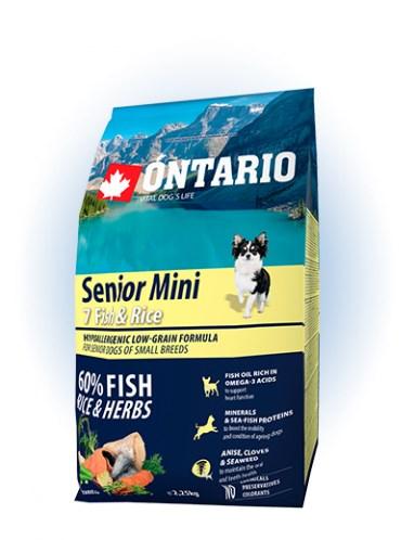 Ontario Senior Mini Fish & Rice - 6,5KG - 2,25