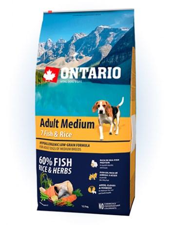 Ontario Adult Medium Fish & Rice - 12kg