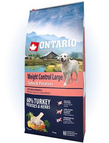 Ontario Large Weight Control Turkey & Potatoes - 12kg