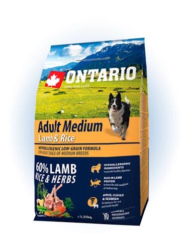 Ontario Adult Medium Lamb & Rice - 12KG - 2,25