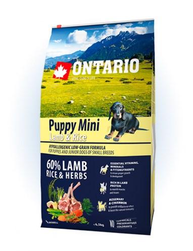 Ontario Puppy Mini Lamb & Rice - 6,5