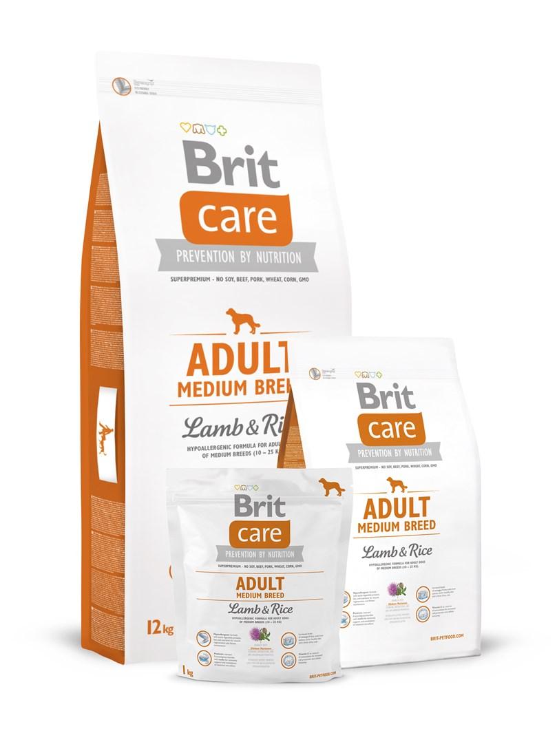 Brit Care Adult Medium Breed Lamb & Rice - 12kg