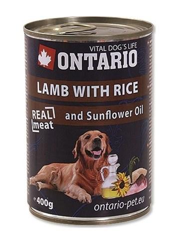 ONTARIO konzerva Lamb, Rice, Sunflower Oil - 400g