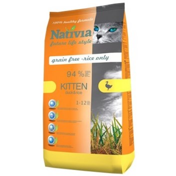 Nativia Kitten - Duck&Rice 10 kg