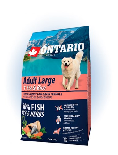 Ontario Adult Large Fish & Rice - 2,25