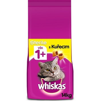Whiskas Sterile granule s kuřecím pro kastrované kočky 14kg