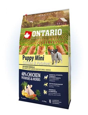 Ontario Puppy Mini Chicken & Potatoes  - 6,5kg