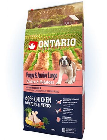 Ontario Puppy & Junior Large Chicken & Potatoes - 12kg