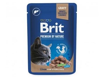 Brit Premium Cat Pouches Liver for Sterilized 100 g