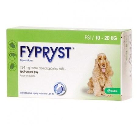 Fypryst spot on M 1x1,34ml 134mg pes 10-20kg