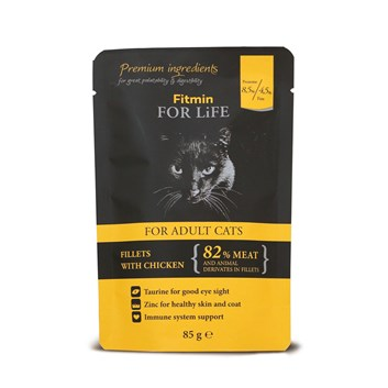 FFL CAT POUCH ADULT CHICKEN 85G