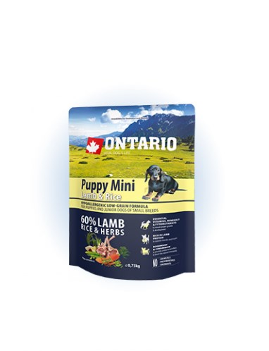 Ontario Puppy Mini Lamb & Rice - 0,75 kg