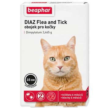 Obojek antiparazitní BEAPHAR DIAZ Flea and Tick 35 cm (1ks)