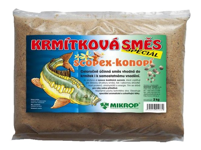 Krmítkové směsi speciál: Scopex/konopí, 2kg