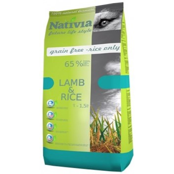 Nativia Adult - Lamb&Rice 15 kg