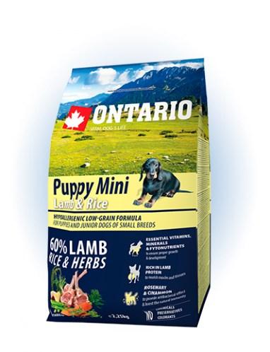 Ontario Puppy Mini Lamb & Rice - 2,25