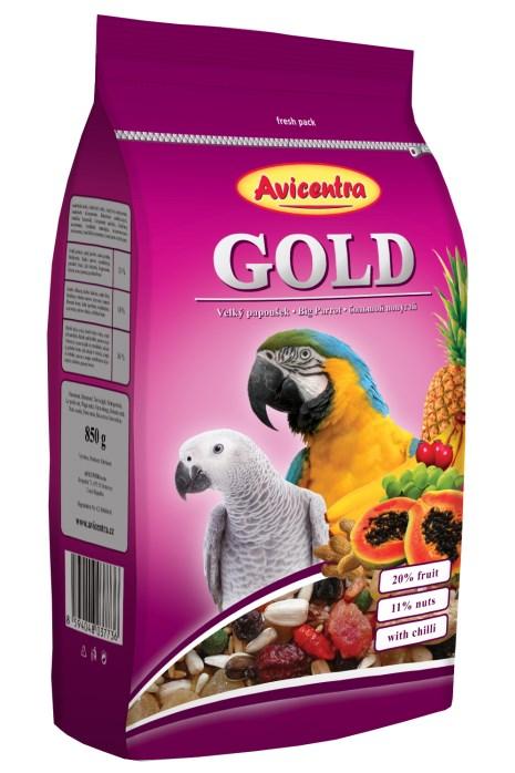 Velký papoušek GOLD
