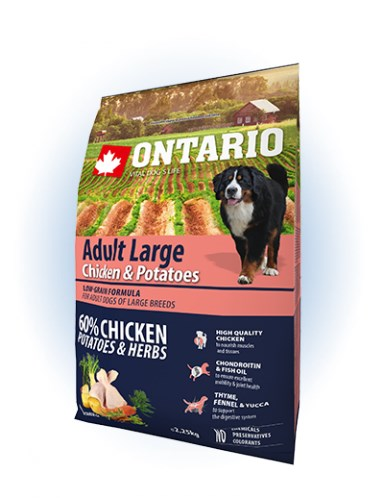 Ontario Adult Large Chicken & Potatoes - 12KG - 2,25