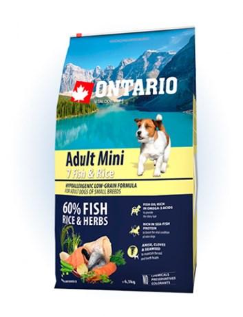 Ontario Adult Mini Fish & Rice - 6,5kg