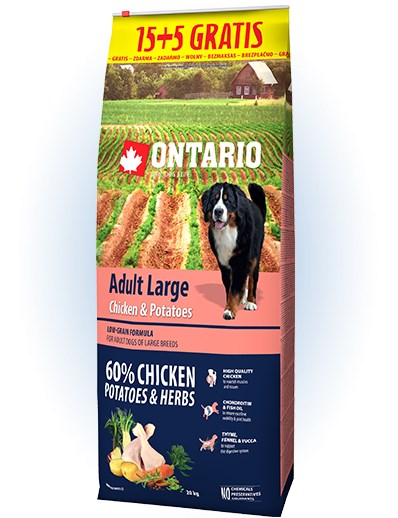 Ontario Adult Large Chicken & Potatoes - 15 +5kg