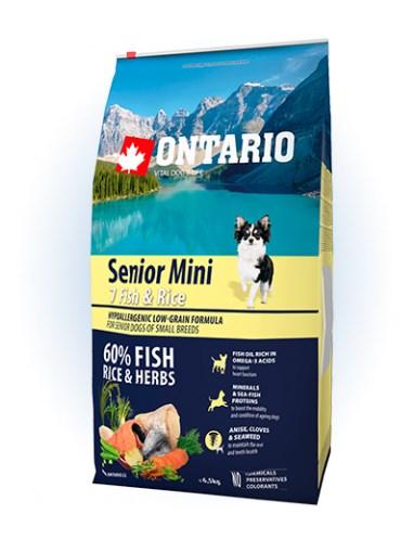 Ontario Senior Mini Fish & Rice - 6,5KG