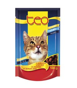 TEO kapsička 100g - Masové kousky hovězí