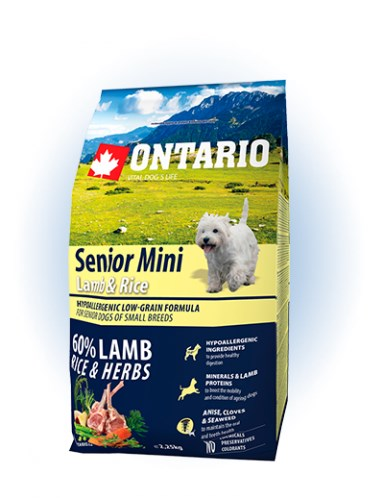 Ontario Senior Mini Lamb & Rice - 2,25