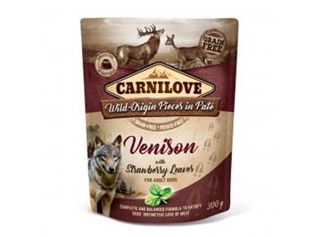 Carnilove Dog Pouch Paté Venison with Strawberry Leaves 300g