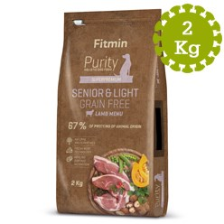 FITMIN DOG PURITY GF SENIOR&LIGHT LAMB - 2 kg