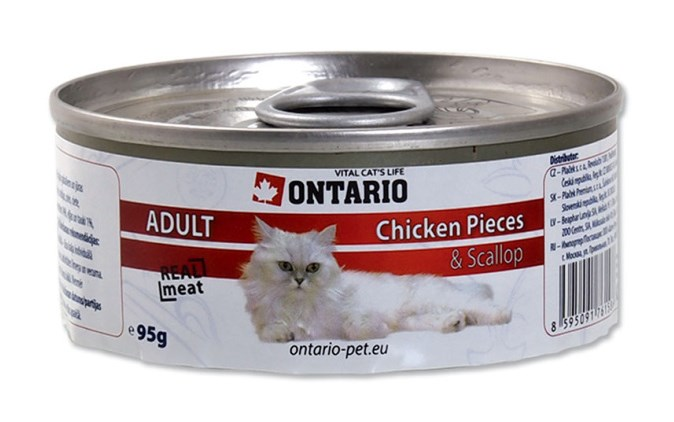 ONTARIO konzerva Chicken Pieces + Scallop 95 g