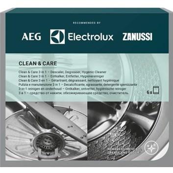 Clean and Care - čisticí prostředek pro myčky/pračky 3v1, 12ks M3GCP400