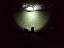 LED svítilna Bronte RA20 na kole_noc