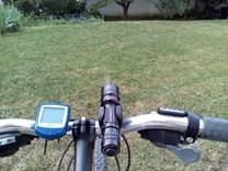 použití led svítilny PKFL2LE na kole